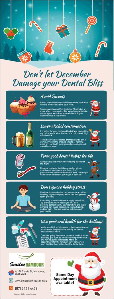 Dentist Nambour Tips: Don't let December Damage your Dental Bliss